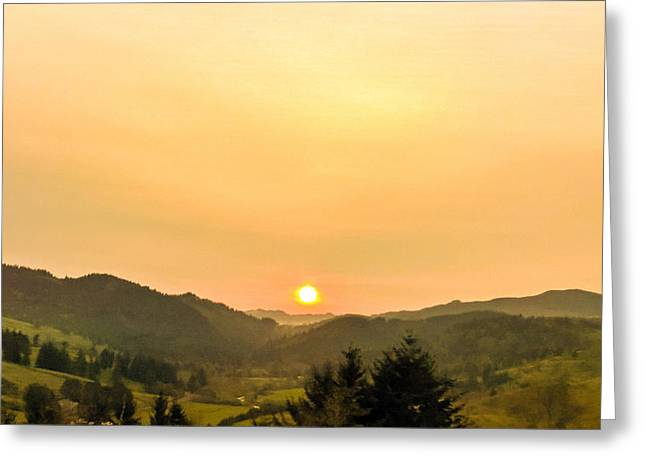 Soft Sunrise Greeting Card