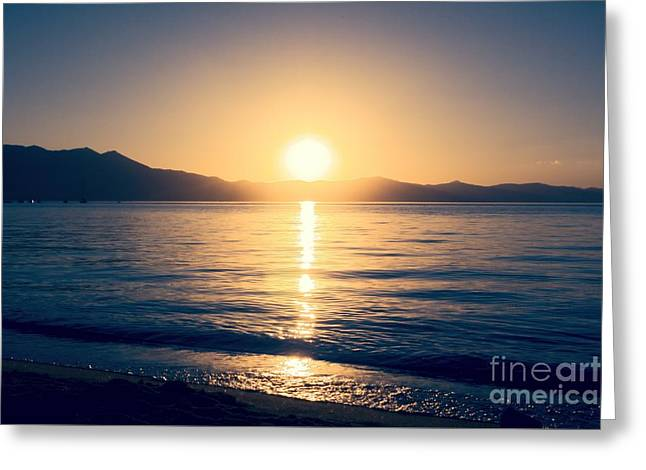 Soft Sunset Lake Greeting Card