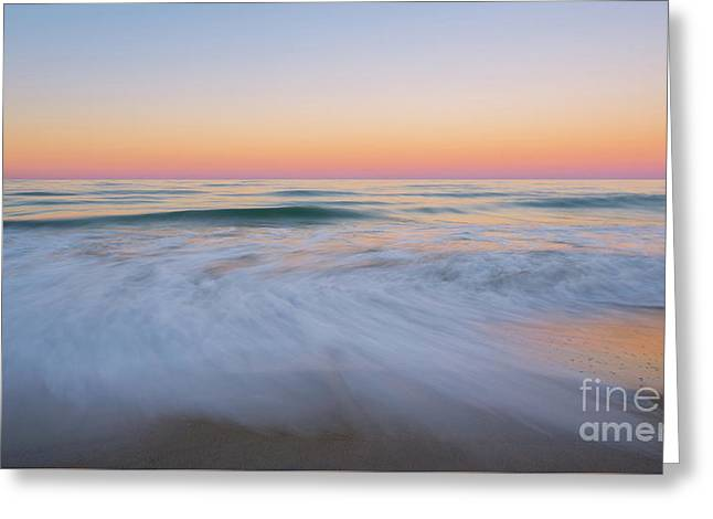 Soft Sunset  Greeting Card by Michael Ver Sprill
