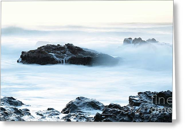 Soft Texture Waves Greeting Card