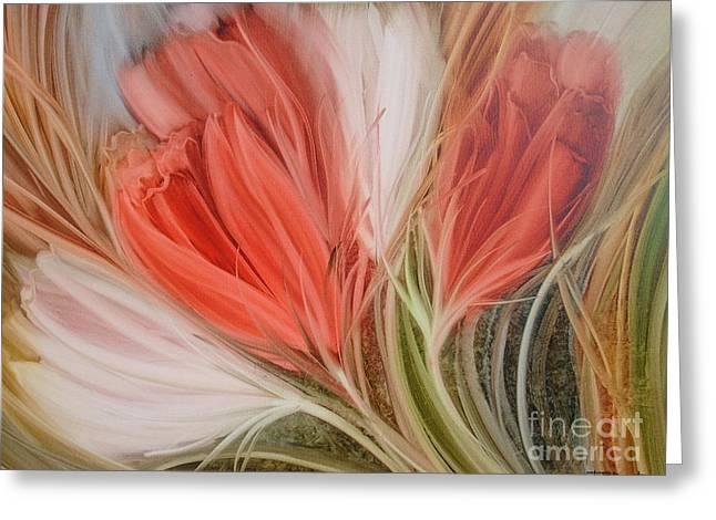 Soft Tulips Greeting Card by Fatima Stamato