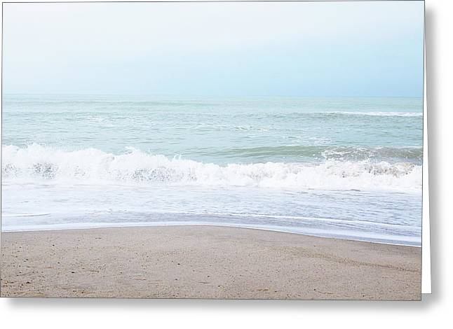 Greeting Card featuring the mixed media Soft Waves 2- Art By Linda Woods by Linda Woods