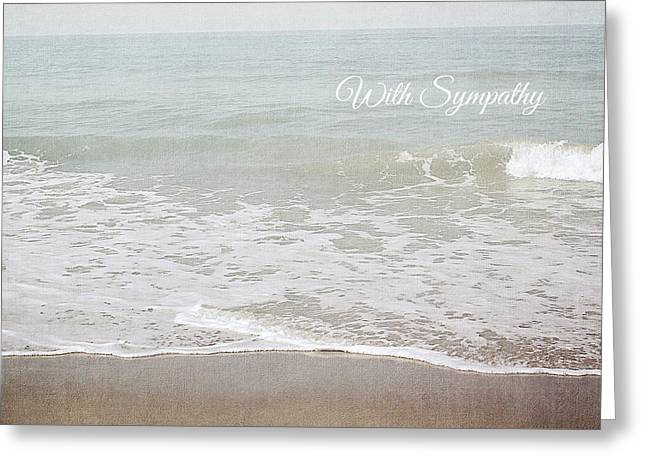 Soft Waves Sympathy Card- Art By Linda Woods Greeting Card by Linda Woods