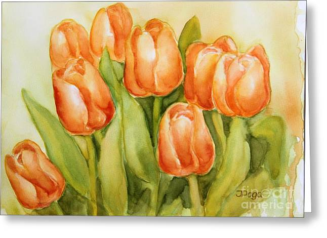 Soft Yellow Spring Tulips Greeting Card