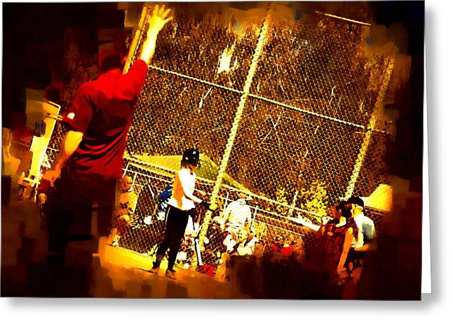 Softball Game Greeting Card by Dale Stillman
