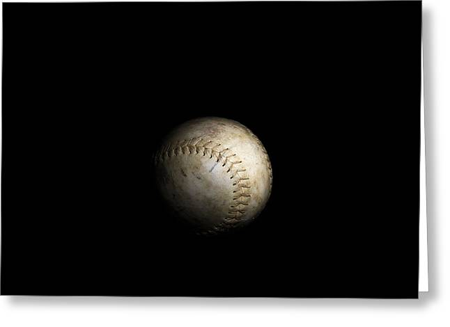 Softball Isolated Greeting Card by Erin Cadigan