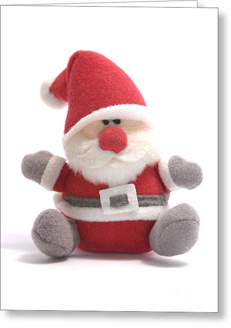 Softie Santa Greeting Card by Andy Smy