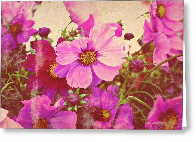 Softly Blowing Two Greeting Card by Cathie Tyler