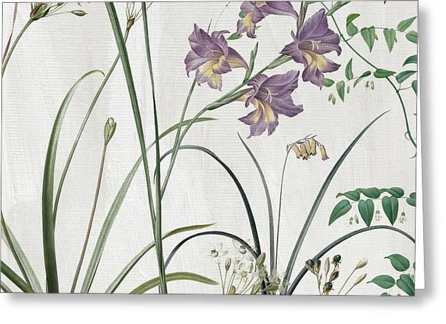 Softly Purple Crocus Greeting Card by Mindy Sommers