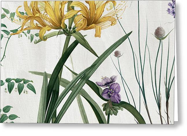 Softly Yellow Lilies  Greeting Card by Mindy Sommers