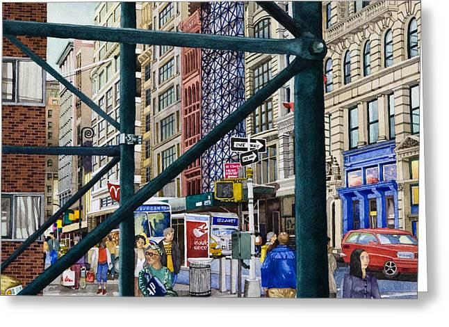 Soho Area New York Greeting Card