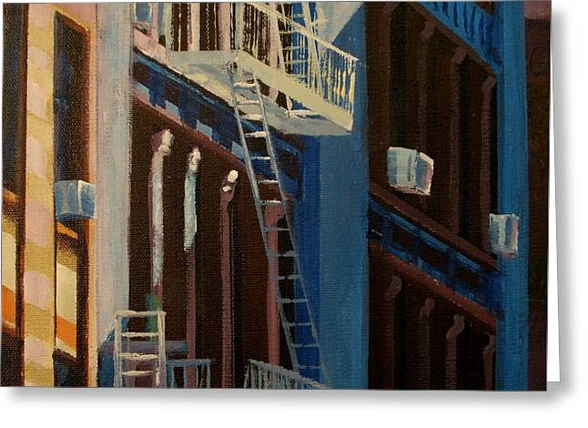 Soho Shadow, Nyc Greeting Card by George Lucas