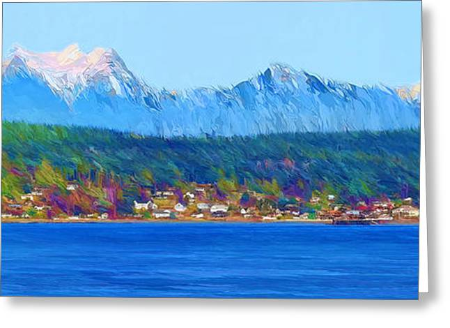 North Vancouver Digital Greeting Cards - Sointula Greeting Card by Darryl Luscombe