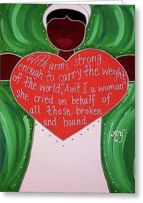 Sojourner Truth Greeting Card by Angela Yarber