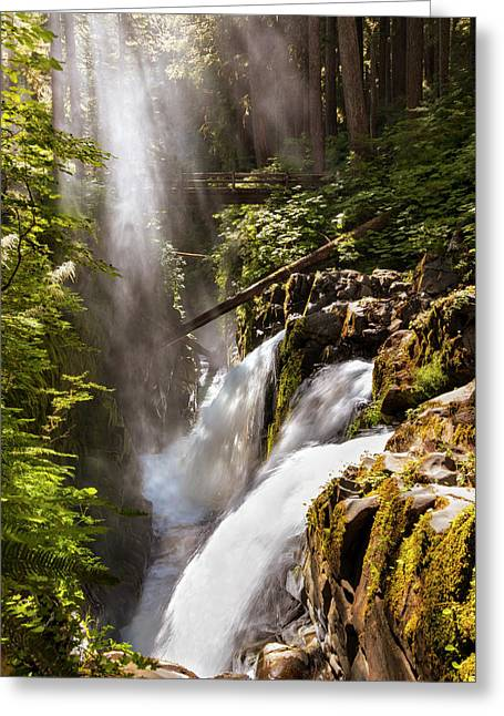 Sol Duc Falls Greeting Card by Adam Romanowicz