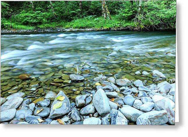Sol Duc River In Summer Greeting Card