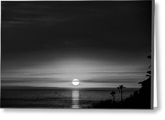 Sol  O  Luna  Paseo Del Mar Greeting Card