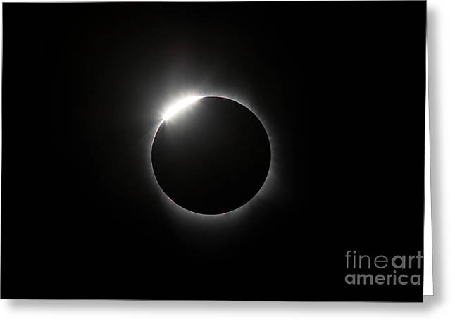 Solar Diamond Ring Greeting Card