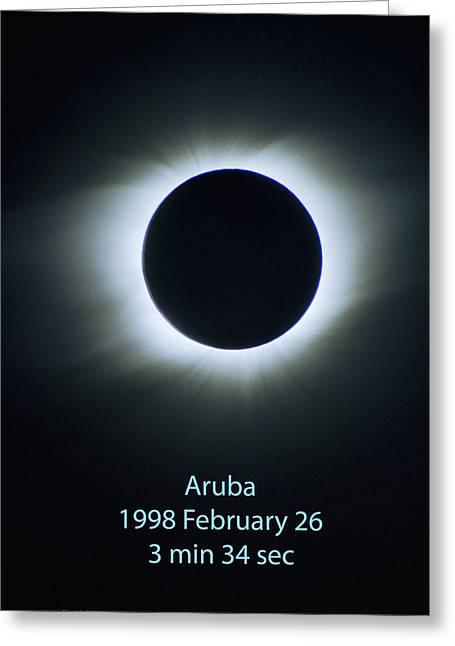 Solar Eclipse Aruba 1998 Greeting Card