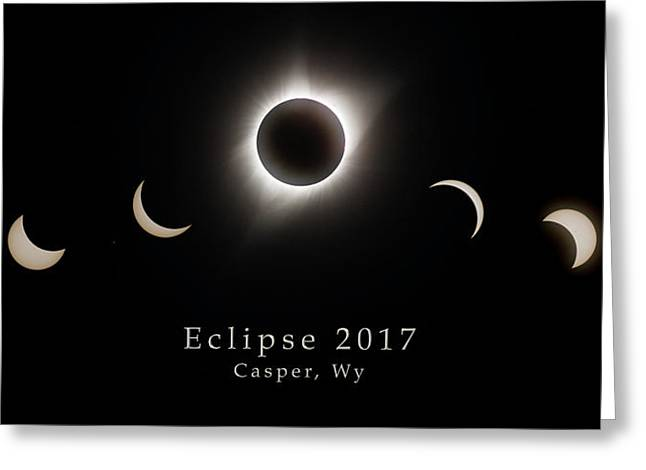 Greeting Card featuring the photograph Solar Eclipse Collage 2 by Rikk Flohr