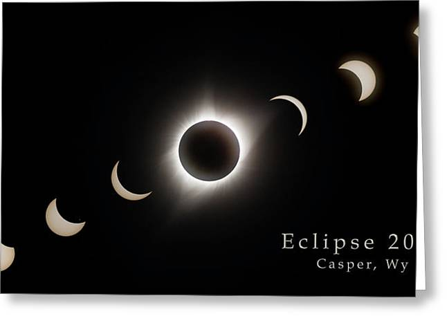 Greeting Card featuring the photograph Solar Eclipse Collage 3 by Rikk Flohr