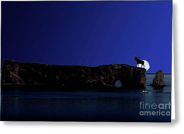 Solar Eclipse Over Perce Rock Greeting Card