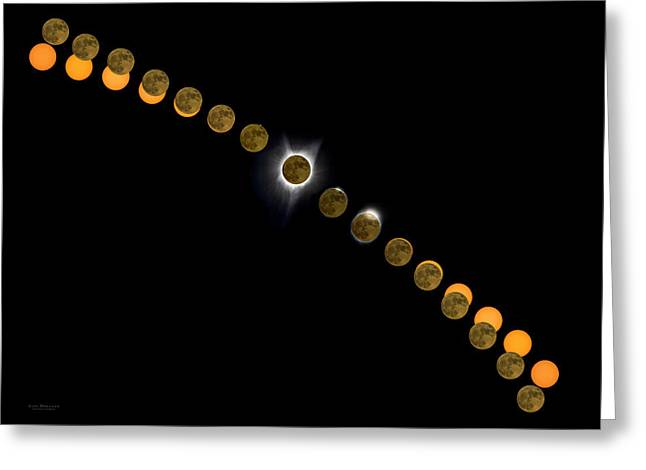 Solar Eclipse Stages 2017 Greeting Card