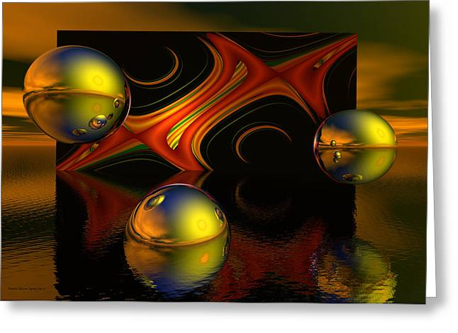 Recently Sold -  - Fractal Orbs Greeting Cards - Solar Eclipse Greeting Card by Sandra Bauser Digital Art