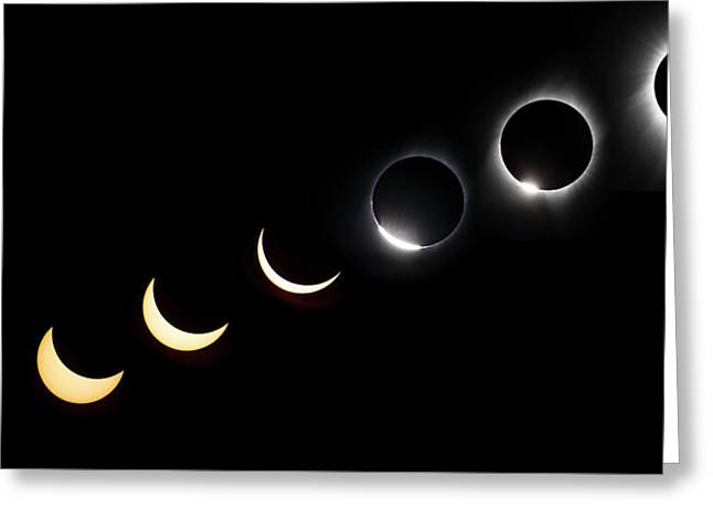 Solar Eclipse Sequence Greeting Card