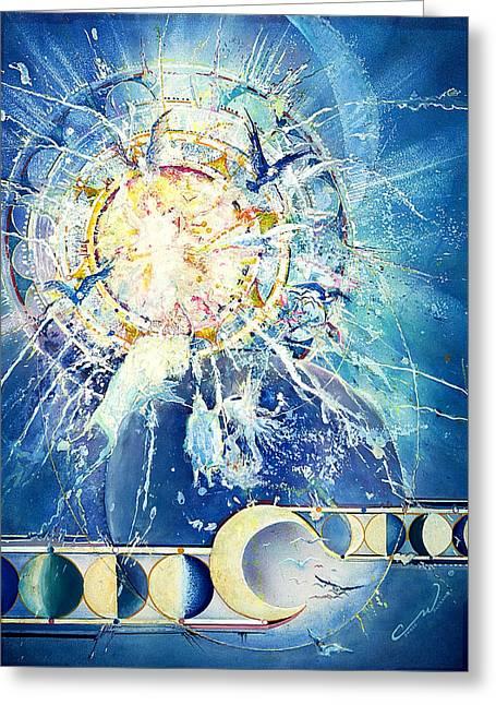 Solar Eclipse Spirits Greeting Card