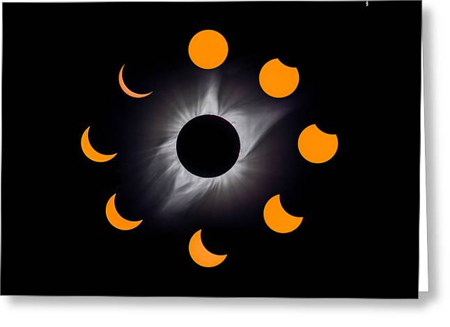 Solar Eclipse Stages Greeting Card