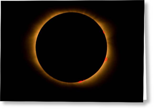 Greeting Card featuring the photograph Solar Eclipse-totality by Bradford Martin
