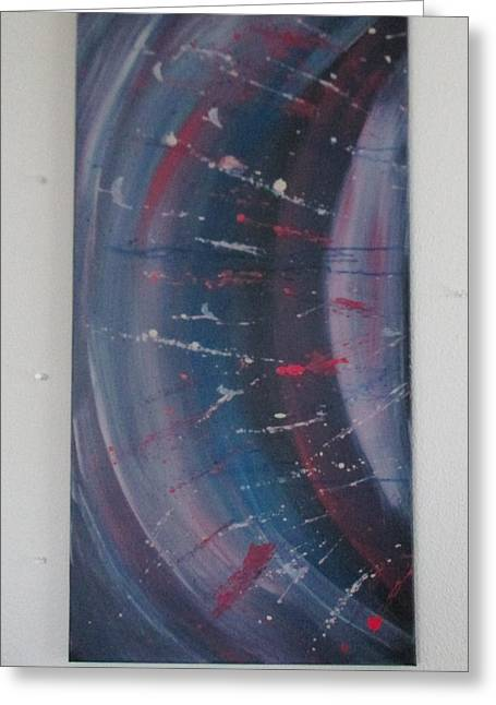 Greeting Card featuring the painting Solar Flare #1 by Sharyn Winters