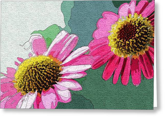 Solar Flowers Greeting Card by Mitchell Gibson