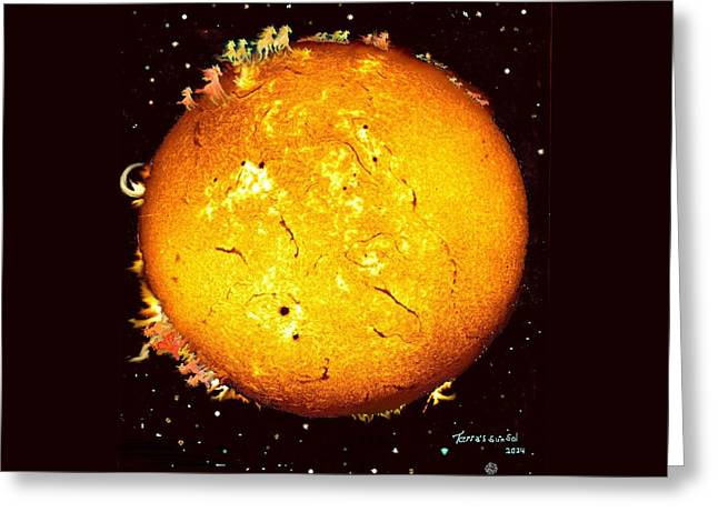 Solar Mares Greeting Card by Hank Roll