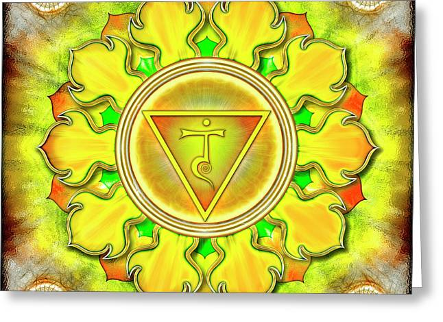 Solar Plexus Chakra - Series 3 Greeting Card by Dirk Czarnota