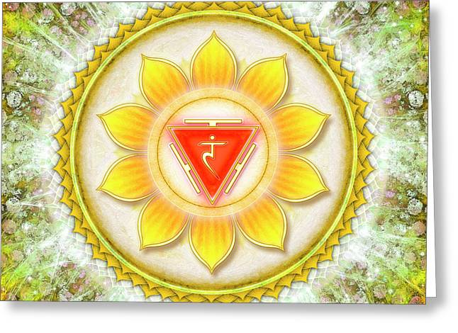 Solar Plexus Chakra - Series 6 Greeting Card by Dirk Czarnota