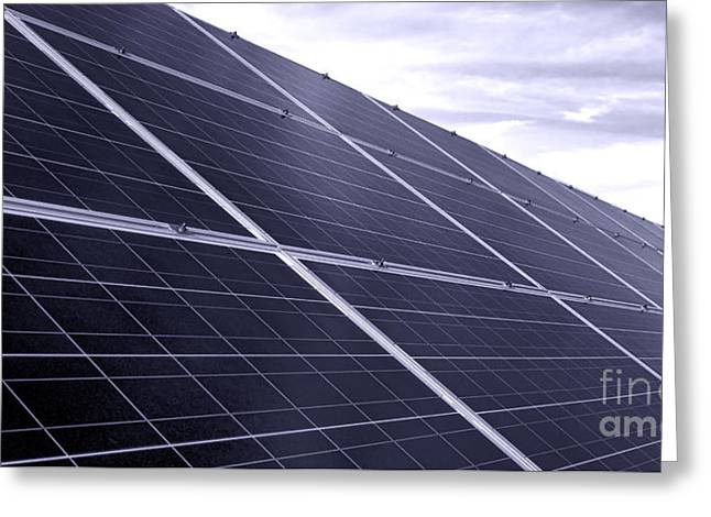 Solar Power Greeting Card by Olivier Le Queinec