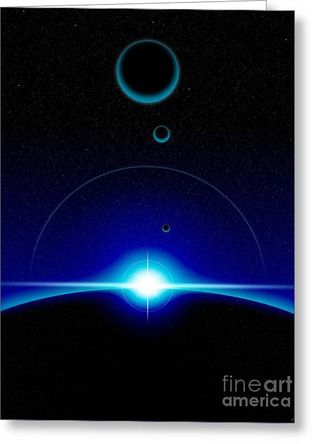 Solar Scene Greeting Card by Phil Perkins