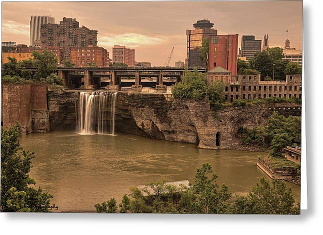 Sold - Good Morning Rochester - Thank You Greeting Card by Hany J