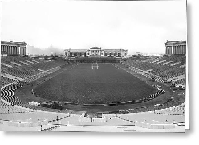 Soldier Field In Chicago Greeting Card by Underwood Archives