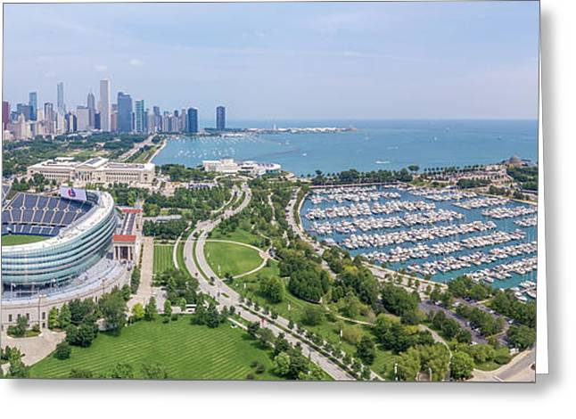 Soldier Field Panorama Greeting Card