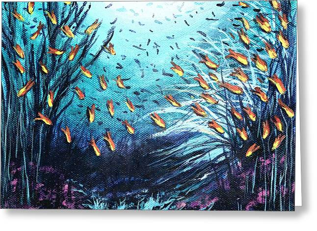 Soldier Fish And Coral  Greeting Card