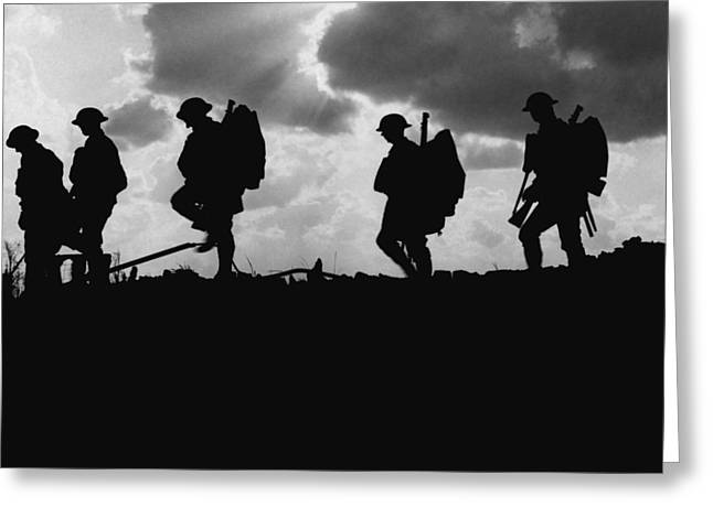 Soldier Silhouettes - Battle Of Broodseinde  Greeting Card