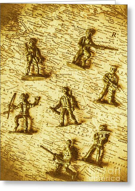 Soldiers And Battle Maps Greeting Card by Jorgo Photography - Wall Art Gallery