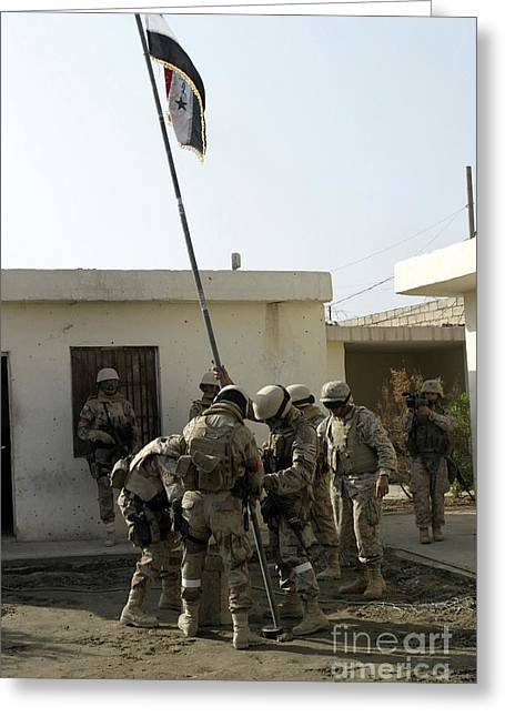 Soldiers From The Iraqi Special Forces Greeting Card by Stocktrek Images
