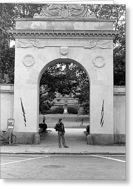 Soldiers Memorial Gate, Brown University, 1972 Greeting Card