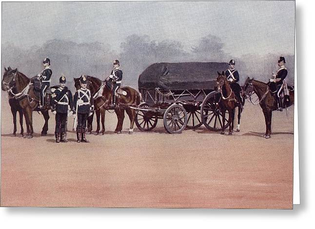 Soldiers Of The Royal Army Service Greeting Card