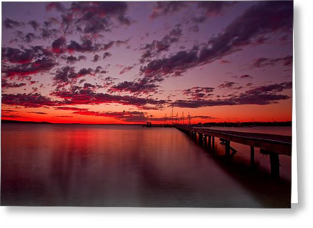 Soldiers Point Sunset Greeting Card