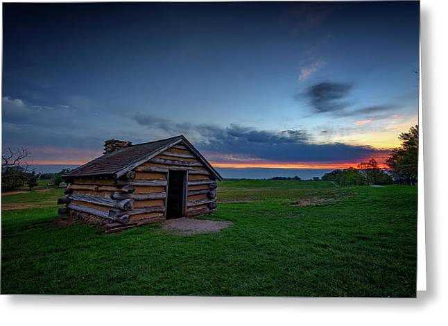 Soldier's Quarters At Valley Forge Greeting Card by Rick Berk